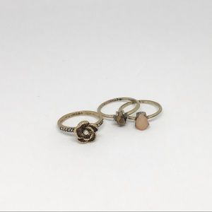 Sunset Vista Stackable Rings